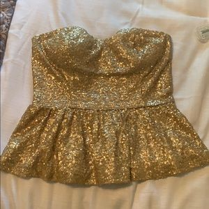 Forever21 Sequin Peplum Top